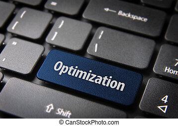 azul, empresa / negocio, teclado, optimization, plano de fondo, llave