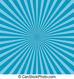 azul, estilo, plano de fondo, sunburst