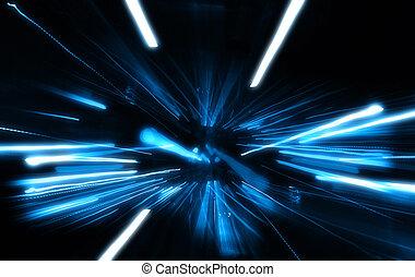 azul, explosión