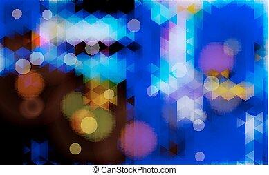 azul, fondo., resumen, confuso