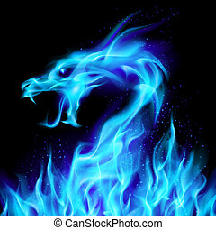azul, fuego del dragón