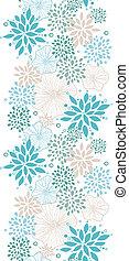 azul, gris, vertical, patrón, seamless, plantas, plano de fondo