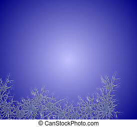 azul, helada