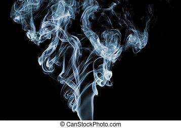 azul, humo