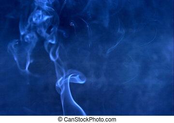 azul, humo, mancha