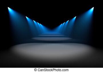 azul, iluminación
