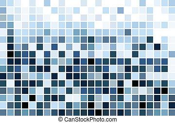azul, mosaico, papel pintado