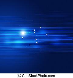 azul, movimiento, resumen, tecnología, plano de fondo