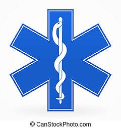 azul, muestra médica