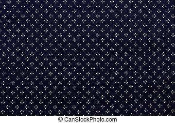 Azul oscuro con un patrón blanco