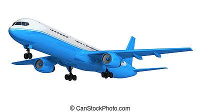 azul, pasajero, aislado, transatlántico