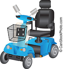 azul, patineta, movilidad