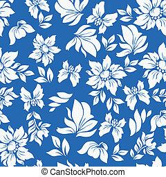azul, patrón, flor, aloha