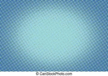 azul, raster, gradiente, halftone, retro, plano de fondo, cómico