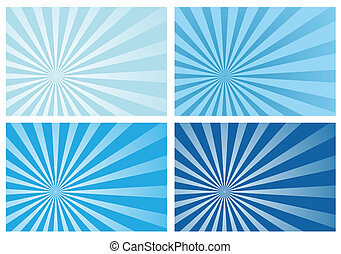 azul, rayo, explosión del sol, luz