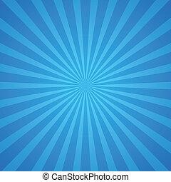 azul, rayos, plano de fondo