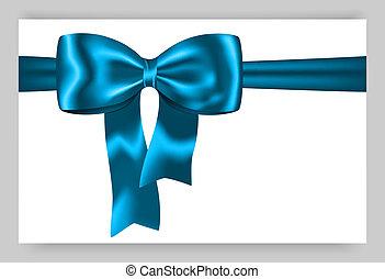 azul, regalo, cinta