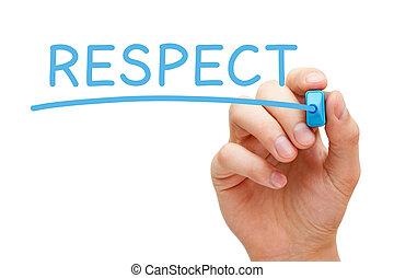 azul, respeto, marcador