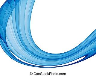 azul, resumen, onda