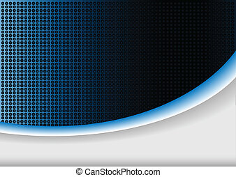 azul, resumen, plano de fondo, brillo