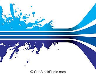 azul, salpicadura