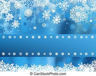 azul, snowflake., eps, navidad, 8