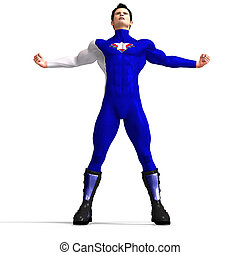 azul, super héroe