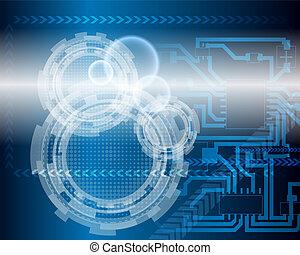 azul, tecnológico, plano de fondo