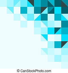 azul, triángulos, plano de fondo