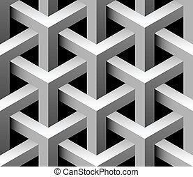azulejo, industrial, vector, seamless, 3d