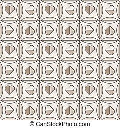 azulejo, marrón, cerámico