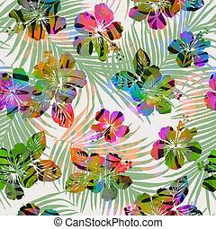 azulejo, trópicos, -, seamless, colorido