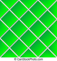 azulejos, cerámico, verde, ensombrecidos