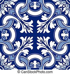 Azulejos de ornamento sin color