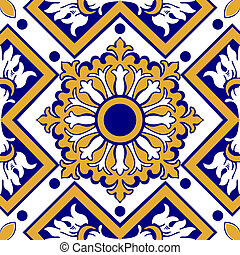 azulejos florales, viejo