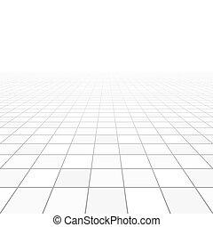 azulejos, perspectiva, piso