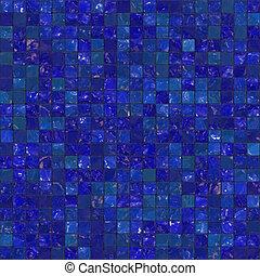 Azules baldosas de baño