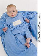 Azules de bebé también