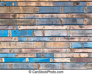Azules pintados de madera pintados de lado exterior