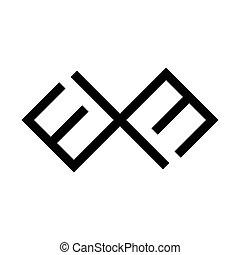 báltico, viejo, cruz, símbolo., ssign., gente, roto, laima