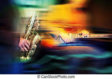 básico, jazz, instrumentos