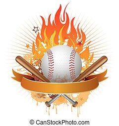 Béisbol con llamas