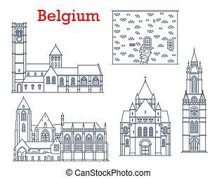 bélgica, catedrales, señales, arquitectura, viaje