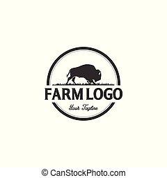 Búfalo o diseños de logo de toros