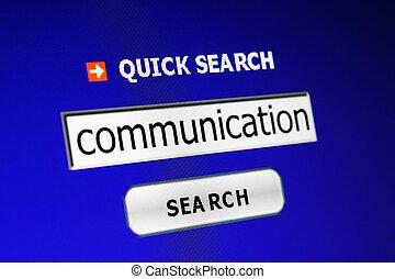 Búsqueda de comunicación