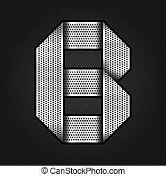 b, cromo, metal, -, carta, cinta
