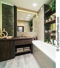 Baño al estilo ecológico