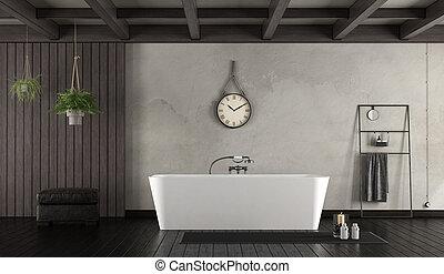 Baño al estilo rústico