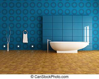 Baño azul contemporáneo