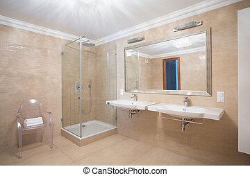 Baño caliente con estilo
